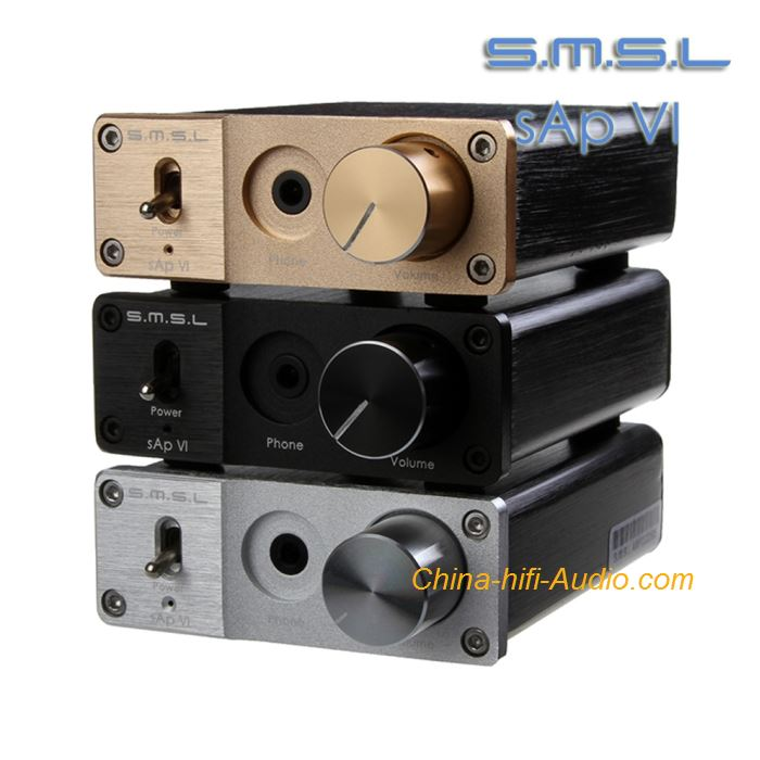 SMSL Sap-VI hifi headphone amplifier Big Power Stereo With Linear Power