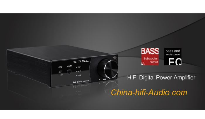 SMSL A2 hifi Digital Amplifier Power Class D Stereo Audio With Subwoofer