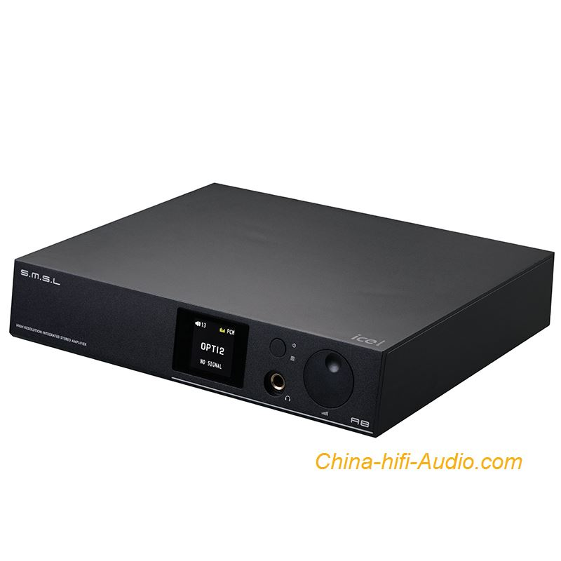 SMSL A8 hifi audio Digital Amplifier +DAC XMOS Xu208 USB DSD+headphone amplifier