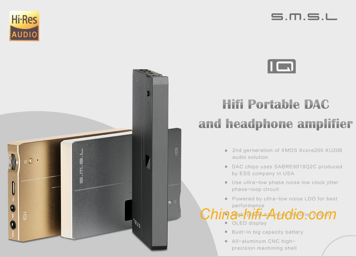Smsl Iq Hifi Portable Dac Headphone Amplifier Xmos Usb Dsd512 Best Amp Circuit Hi Res With Dsd Xcore200 Xu208 32bit 768khz 100 Brand New