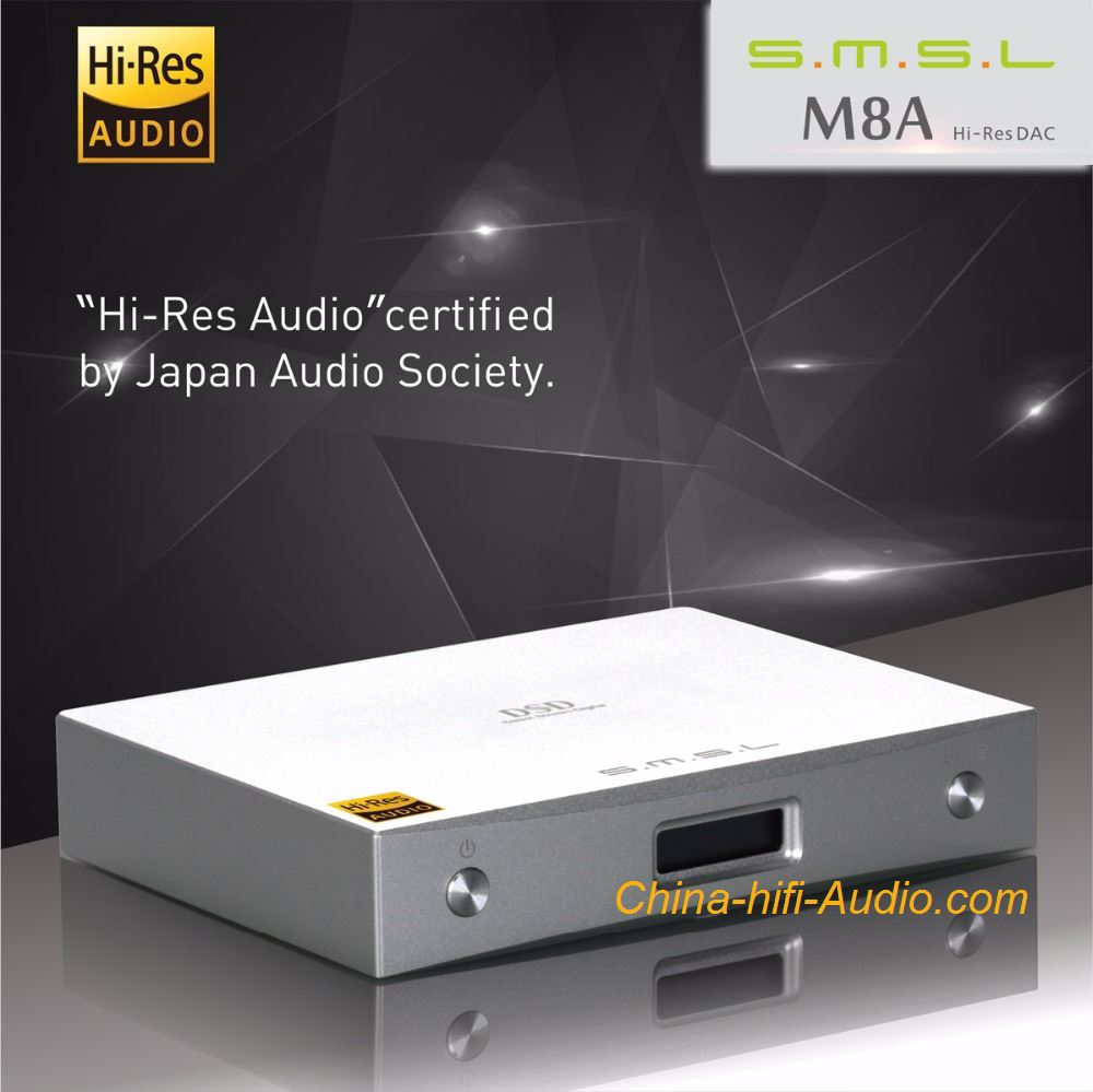 SMSL M8A USB DAC Asynchronous decoder ES9028 32Bit/768KHz DSD512 XMOS Xu208