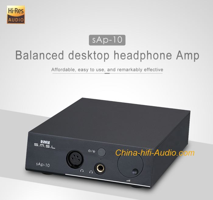 SMSL SAP-10 hifi audio headphone amplifier balanced desktop XLR RCA Input