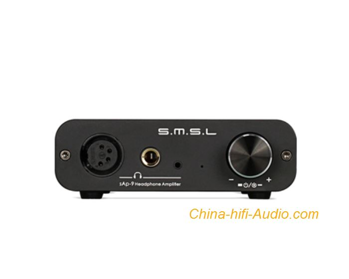 SMSL SAP-9 hifi stereo headphone amplifier balanced XLR Full Balanced Black
