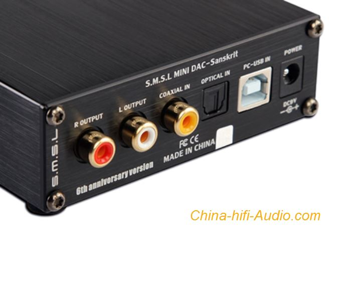 SMSL Sanskrit 6 hifi audio DAC Decoder USB optical coaxiale