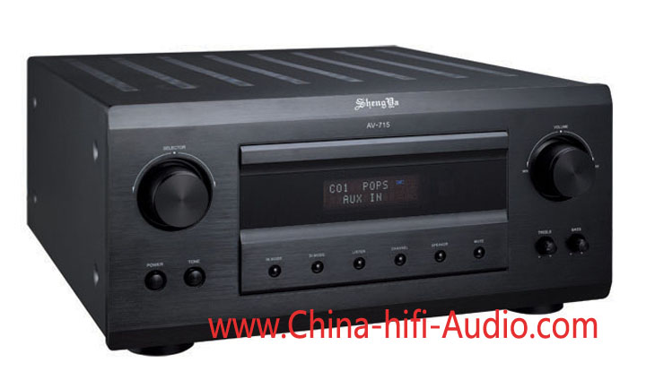 Shengya AV-715 7 Channel amplifier for home theater Black