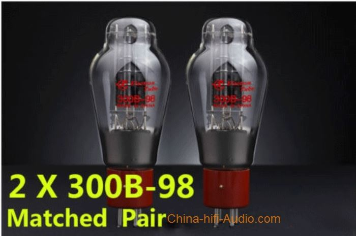 Shuguang 300B-98 Vacuum Tube Best Matched Pair NEW - Click Image to Close