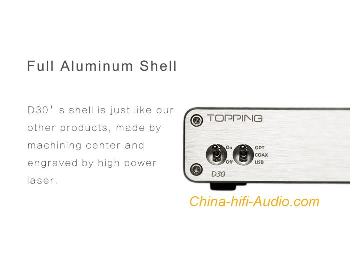 topping d30 hifi dac decoder asynchronous usb coaxial fibre dsd xmos cs4398   china