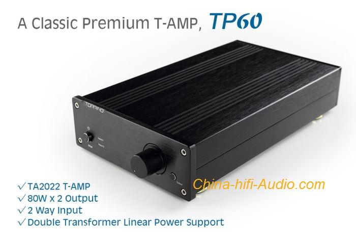 TOPPING TP60 hifi Digital Power Amplifier TA2022 T-AMP AMP Dual Shield Ring Cow