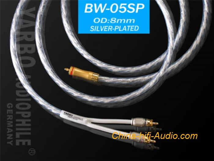 YARBO BW-05SP audiophile cable Hi-Fi audio RAC interconnect cords Silver plated