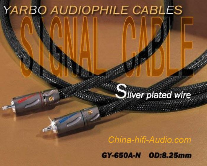 YARBO GY-AV650A-N HiFi interconnect cable OFC Silver-plated sinal cord pair RCA