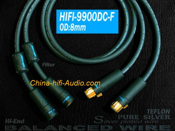 YARBO HIFI-9900DC-F Hi-End interconect cable balanced cord sterling silver XLR