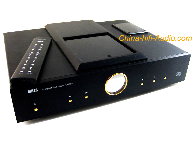 MHZS CD88H Top Loading Tube CD Player balanced XLR HiFi Audio BK - Click Image to Close