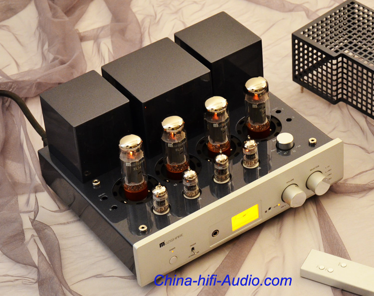 MUZISHARE X5 EL34 x4 vacuum tube integrated amplifier push-pull with Remote - Click Image to Close