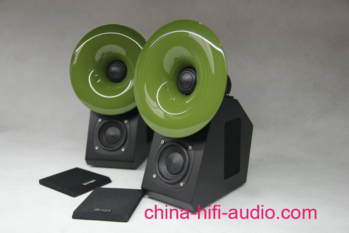 QINPU S-2 hifi speakers loudspeakers pair 2011 latest Green