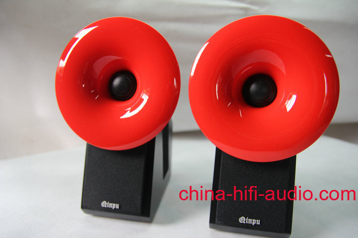 QINPU S-2 hifi speakers loudspeakers pair 2011 latest Red