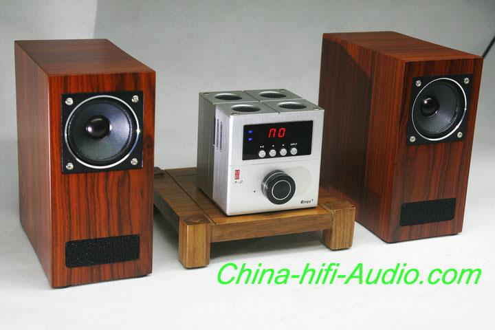 Best Match! QINPU A-2 intergrated AMP + V-3 hifi speakers