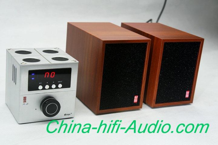 QINPU X-1 hifi mini desktop speakers speakers pair