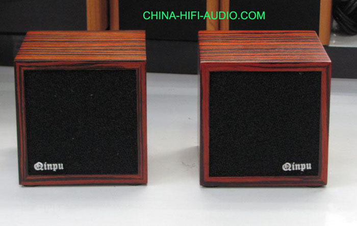 Qinpu DV-3 DV3 tabletop speaker loudspeakers wood finish pair