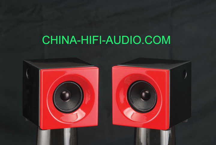 Qinpu DV-1 DV1 tabletop speaker loudspeakers Red pair