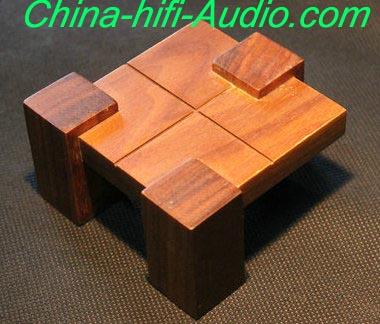 Qinpu J-1.0 manual veneer speaker stands a pair for hifi AMP