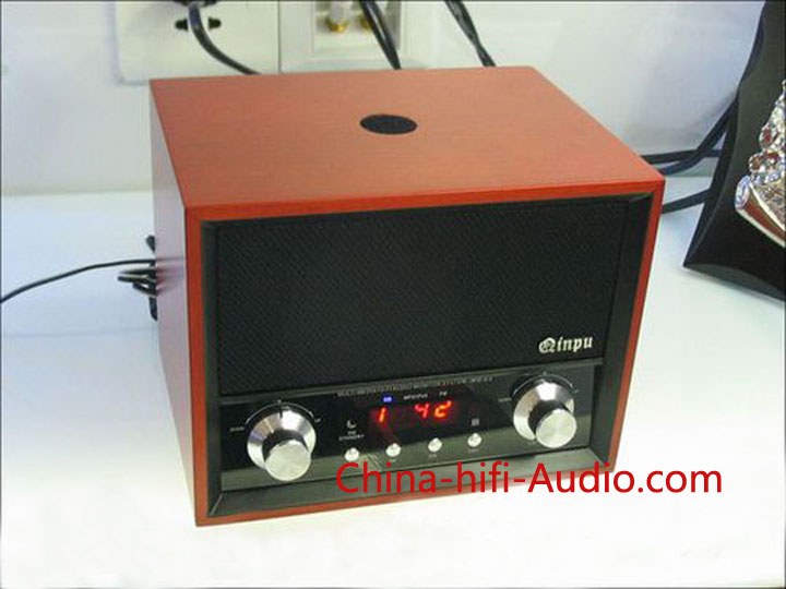 Qinpu RD-2.2 hi-fi speakers loudspeakers with AM/FM radio