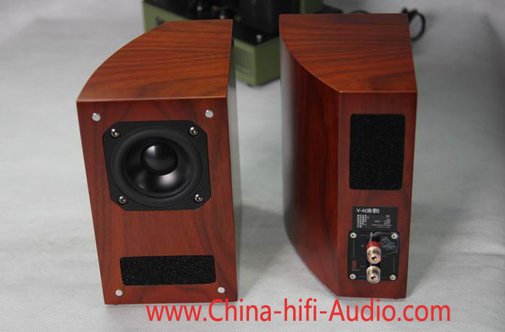 Qinpu V-6 Fishman's Song speakers loudspeakers pair red