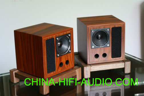 Qinpu V-5 V5 tabletop speaker loudspeakers wood finish pair