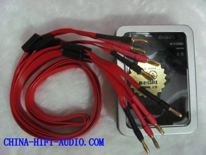 Qinpu lighting speakers loudspeakers cables pair banana Red