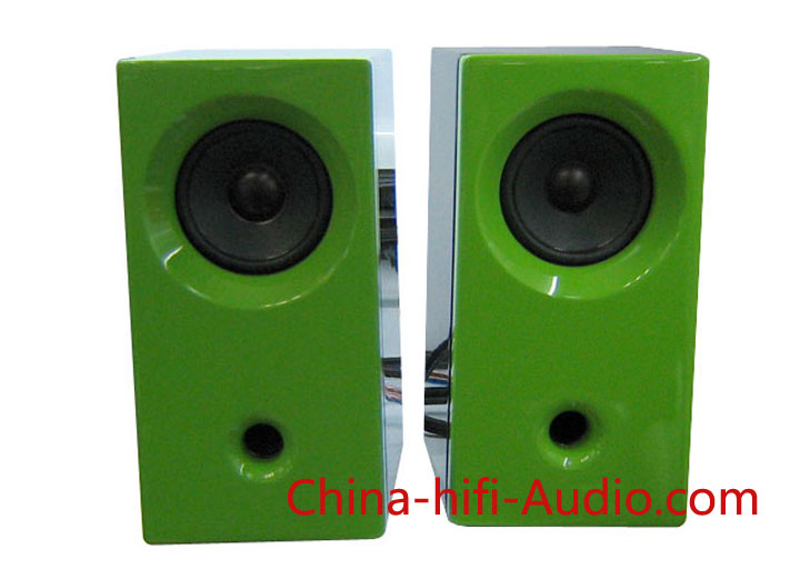 Qinpu MG-2 desktop speakers loudspeakers green pair