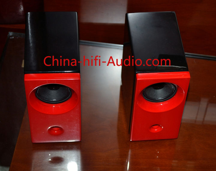 Qinpu MG-2 desktop speakers loudspeakers red pair