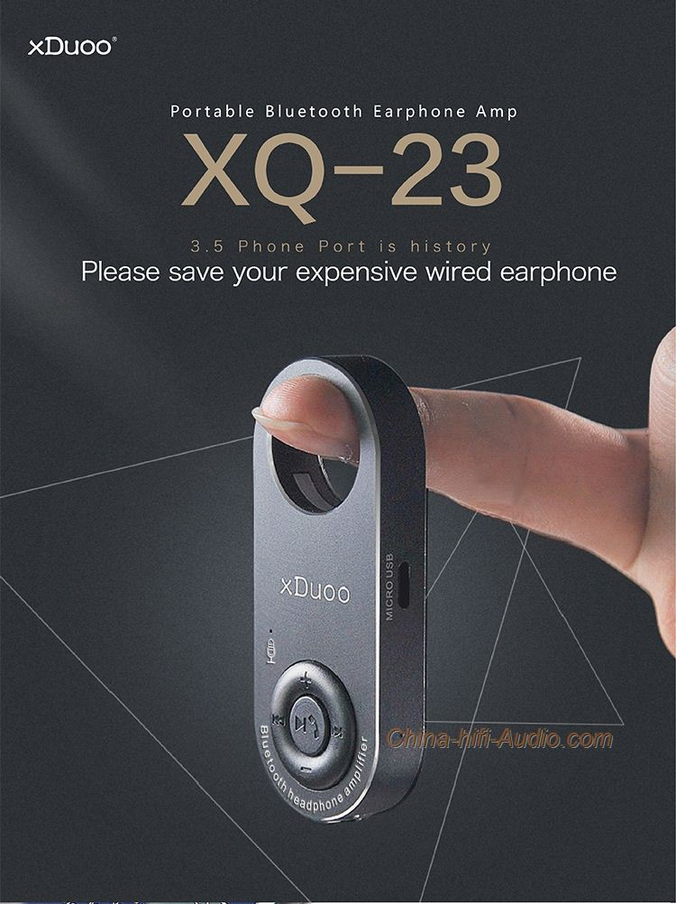 XDUOO XQ23 Portable Bluetooth earphone amplifier with USB DAC WM8955 hifi sound