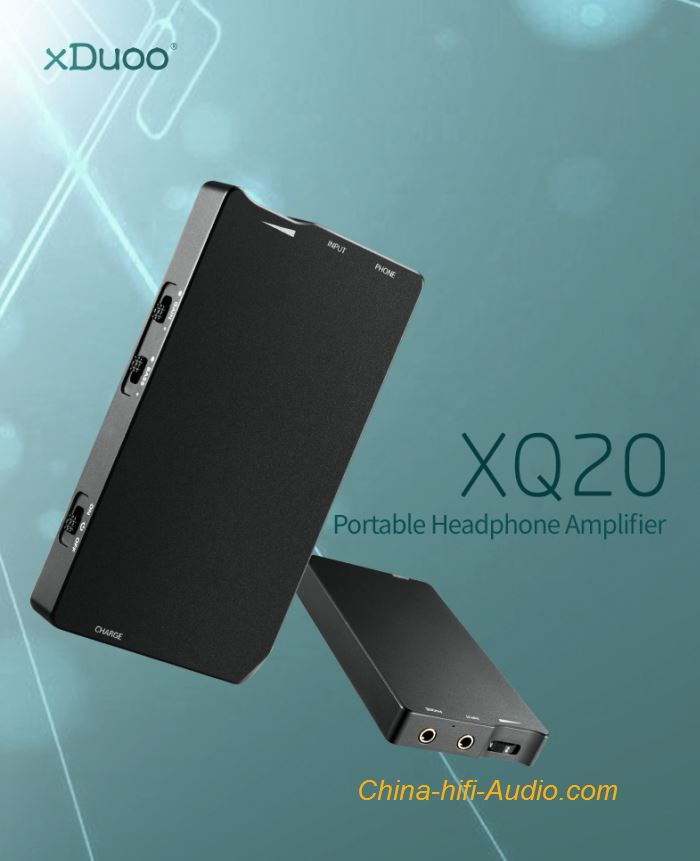 XDUOO XQ-20 Portable HIFI Headphone Amplifier Audio OPA1652 LMH6643 Aluminum