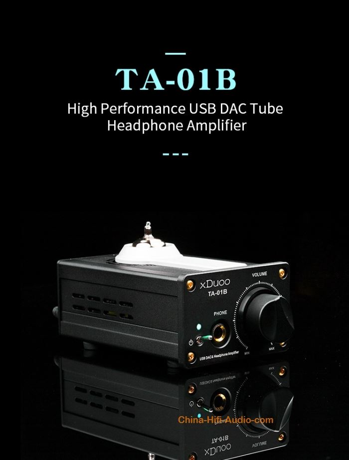 xDuoo TA-01B High performance USB DAC & Headphone Amplifier Portable tube 12AU7