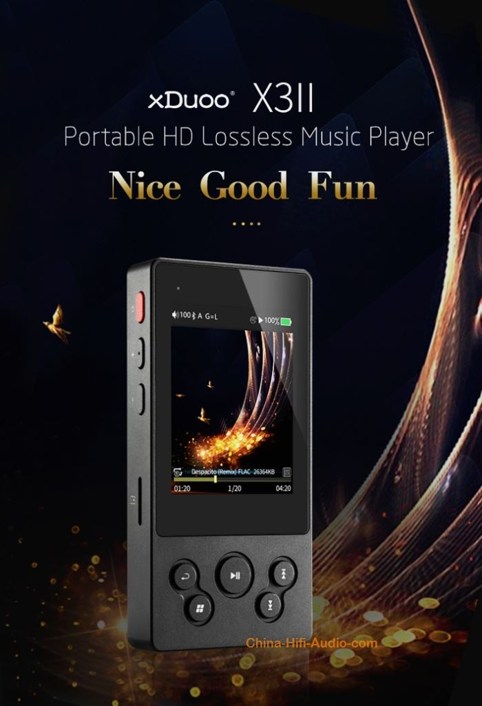 xDuoo X3 II Portable HD Lossless Music Player Two-way Bluetooth hifi Walkman