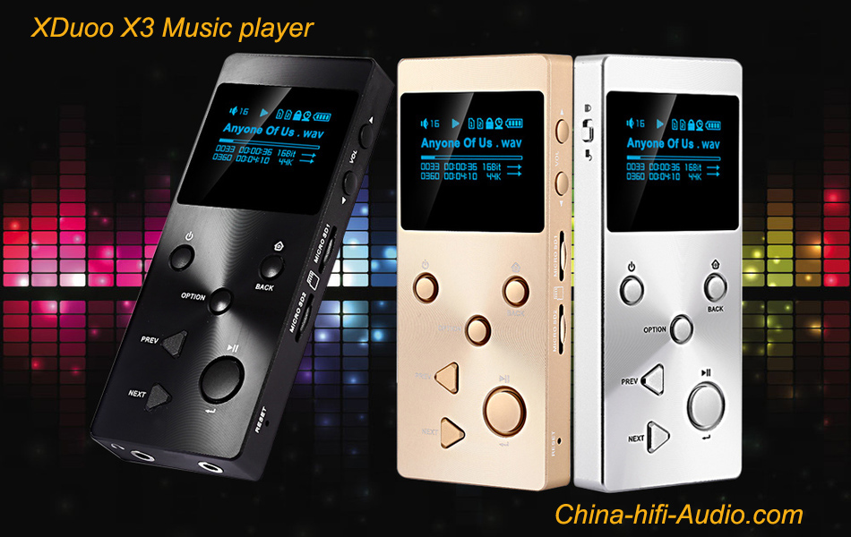 XDUOO X3 HiFi MP3 Music Player Lossless FLAC,APE,DSD,WMA HD OLED