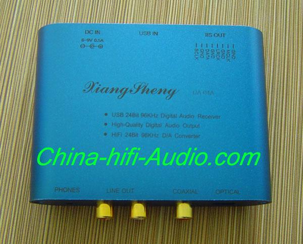 XiangSheng TE7022L DA-04A USB DAC coaxial fiber 24bit 96KHz blue