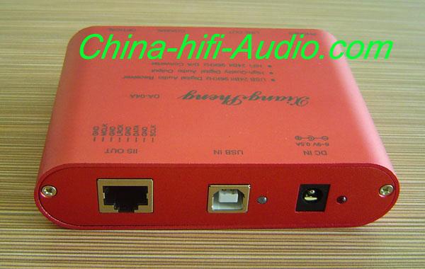 XiangSheng TE7022L DA-04A USB DAC coaxial fiber 24bit 96KHz red