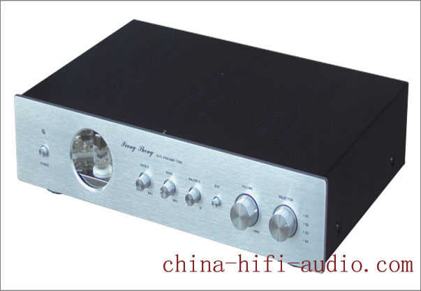 XiangSheng 728A Vacuum Tube Pre-Amplifier Shigeru Wada silver - Click Image to Close