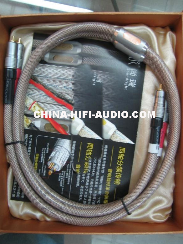 SoundRight SF-Cu hifi Audio RCA Interconnect Cables 1 pair